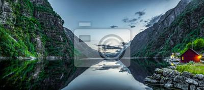 Naklejka Fiord w Norwegen