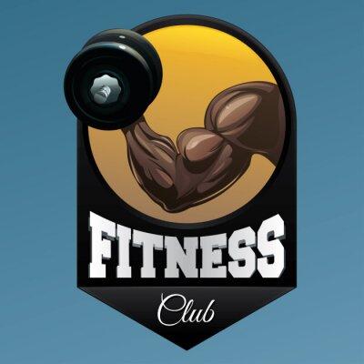 Naklejka Fitness symbolem ilustracji