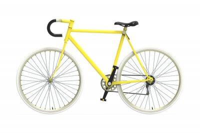 Naklejka Fixed gear rower miejski Kolor mieszania tle pojedyncze