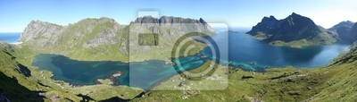 Naklejka Fjord des Iles Lofoten