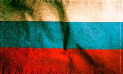 Flaga narodowa Rosji, vintage grunge kolor filtrowane.