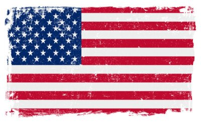 Naklejka Flaga USA w formacie wektorowym