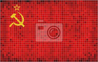 Flaga ZSRR - Ilustracja, flagi abstrakcyjne mozaiki ZSRR Grunge mozaiki Flaga ZSRR Streszczenie grunge mozaiki wektora