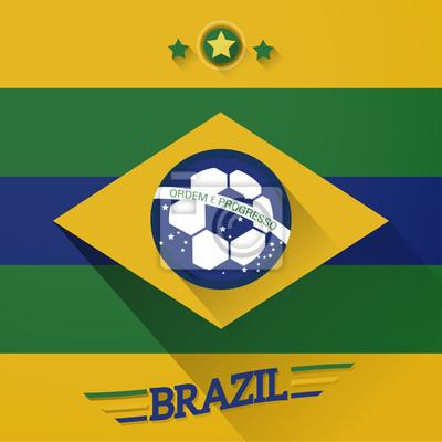 Flagi piłkarskie znak brazylia