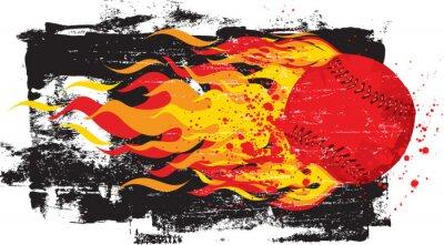 Naklejka Flaming Red Fastball