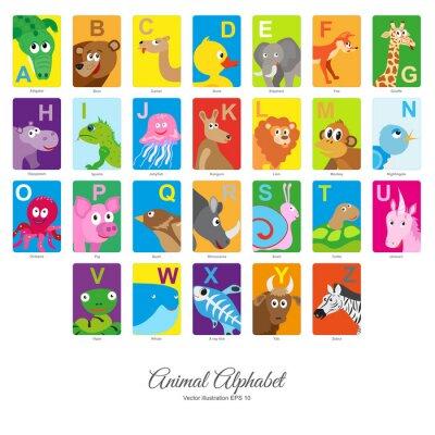 Naklejka Flat Animal Alphabet