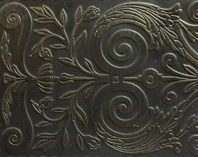 Naklejka Floral Design On Metal Frame