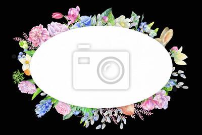 Floral frame om dark backgraund
