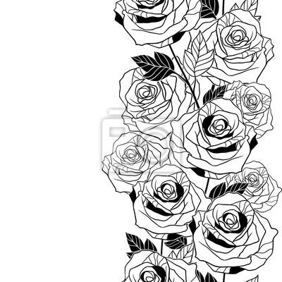Floral tło z róż. Wektor bez szwu.