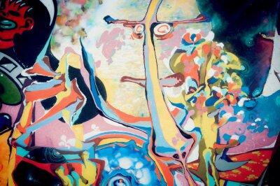 Naklejka Fond peinture abstraite