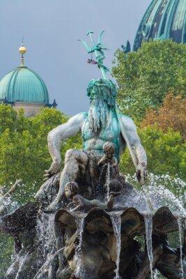 Naklejka Fontanna Neptuna i Katedra w Berlinie, Berlin