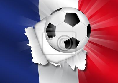 Foot Francja - Drapeau transpercé