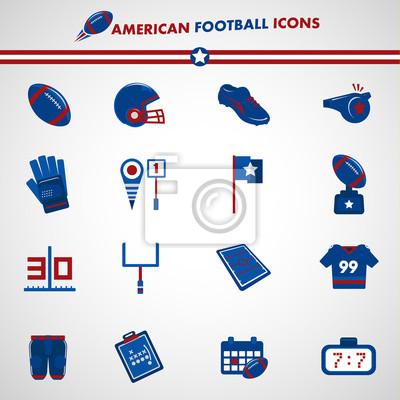 Football amerykański ikony