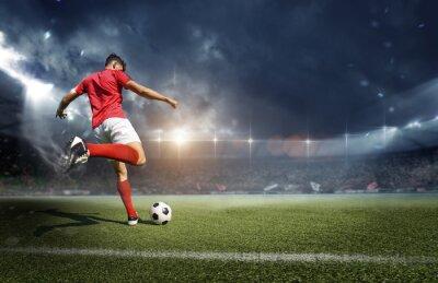 Naklejka Football player in the stadium