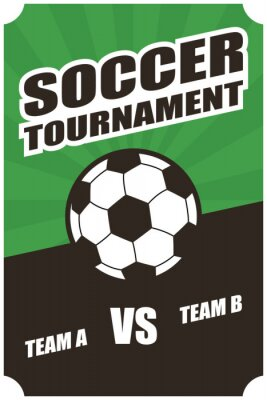 football soccer sport poster with balloon