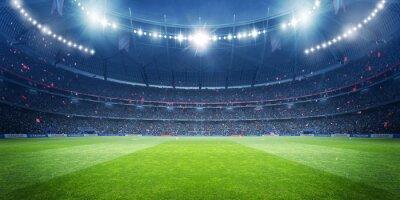 Naklejka Football stadium at night. An imaginary stadium is modelled and rendered.
