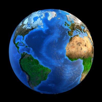 Naklejka Formy rzeźby Planet Earth