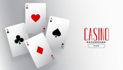 Naklejka four playing casino ace cards background