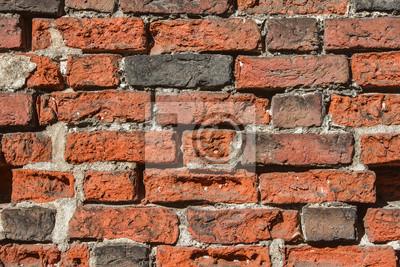 Fragment ceglanego muru