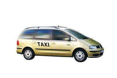 Naklejka Freigestellt Taxi Bus