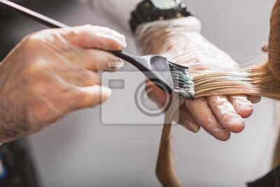 Naklejka Fryzjer umiera żeński włosy