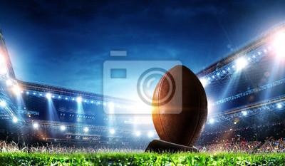 Naklejka Full night football arena in lights