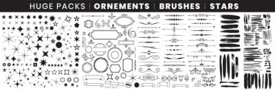 Naklejka Full Pack Ornements Brushes stars