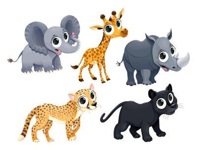 Naklejka Funny african animals