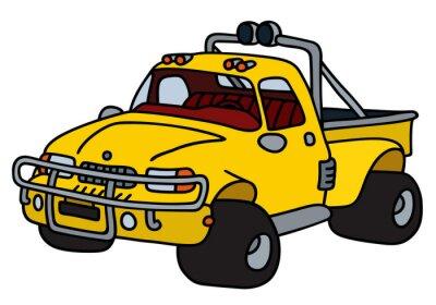 Naklejka Funny pic-żółta kup / Strony rysunku, ilustracji wektorowych