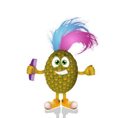 Naklejka Funny punk ananas