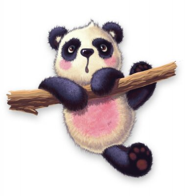 Naklejka Furry panda