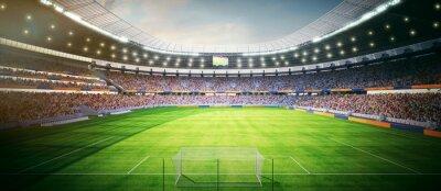 Naklejka Fussball Stadion am Nachmittag - stadion piłkarski w godzinach popołudniowych