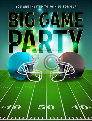 Futbol amerykański Big Game Party Poster