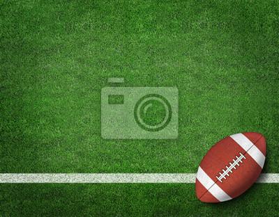 Naklejka Futbol amerykański na amerykański piłkarz pola