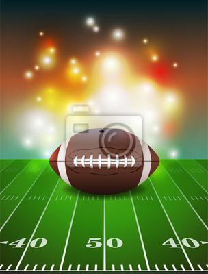 Futbol amerykański na pole tła