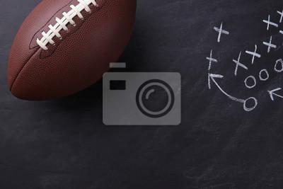Naklejka Futbol amerykański na tablicy