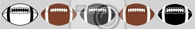 Naklejka Futbol amerykański   Piłka   Godło   Logo   Wariacje