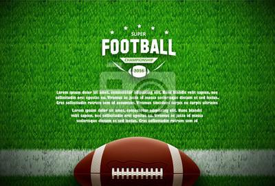 Naklejka futbol amerykański widok z góry na zielonym polu