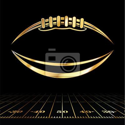Naklejka Futbol Amerykański Złoty Ikona