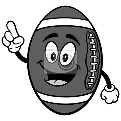 Futbolowa maskotka opowiada ilustrację