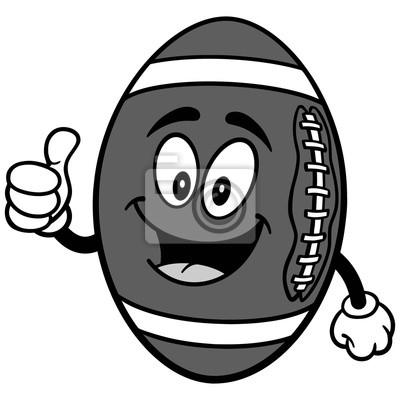 Futbolowa maskotka z aprobat ilustracją