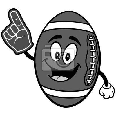 Futbolowa maskotka z Piankową Palcową ilustracją