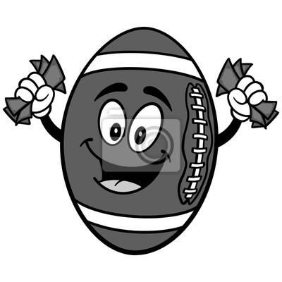 Futbolowa maskotka z pieniądze ilustracją