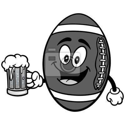 Futbolowa maskotka z Piwną ilustracją