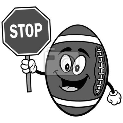 Futbolowa maskotka z przerwa znaka ilustracją