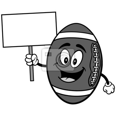 Futbolowa maskotka z Szyldową ilustracją