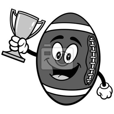 Futbolowa maskotka z trofeum ilustracją
