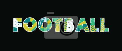 Futbolowa pojęcia słowa sztuki ilustracja