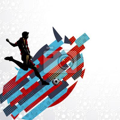 Futbolowy gracz piłki nożnej strzela balowego abstrakcjonistycznego wektoru wzoru sporta ilustraci tło