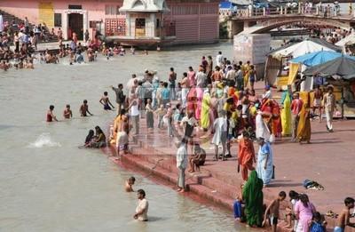 Naklejka Ganga rzeka